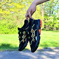 Мужские Кроссовки Adidas Ozweego Black Green Orange адидас озвего черные чоловічі кросівки адідас чорні озвіго, фото 1