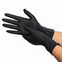 Рукавички вінілові, чорні. Непудровані. Розмір M, 100 шт Супер Ціна