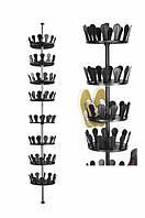 Телескопічна полку для взуття Livarno living 2,4-2,8х0,26м Чорний Супер Ціна