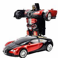 Машинка трансформер червона Супер Ціна
