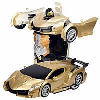 Машинка трансформер в золотому кольорі Супер Ціна