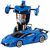 Машинка трансформер синьо-золота Супер Ціна