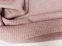 Пудровый. Трикотаж вязаний, мягкий, зимний., фото 1