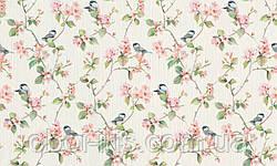 Метровые обои 970708 Rasch Victoria каталог для стен виниловые на флизелине Германия фактурные цветы птички