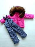 Зимние костюмы куртка и полукомбинезон на мальчика и девочку, фото 3