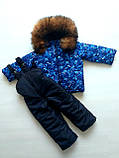 Зимние костюмы куртка и полукомбинезон на мальчика и девочку, фото 9