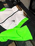 Вітрівка Чоловіча куртка вітровка Adidas / чоловіча куртка вітровка Adidas салатова, фото 4