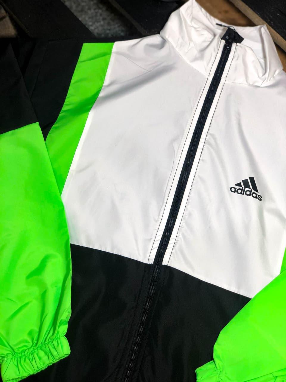 Вітрівка Чоловіча куртка вітровка Adidas / чоловіча куртка вітровка Adidas салатова