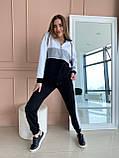 Спортивний костюм жіночий двухнитка батник+штани розмір: 42-44, фото 4