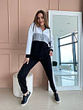 Женский спортивный костюм двухнитка батник+штаны размер: 42-44, фото 4