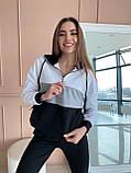Женский спортивный костюм двухнитка батник+штаны размер: 42-44, фото 5