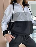 Женский спортивный костюм двухнитка батник+штаны размер: 42-44, фото 7