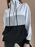 Спортивний костюм жіночий двухнитка батник+штани розмір: 42-44, фото 8