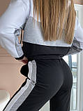 Спортивний костюм жіночий двухнитка батник+штани розмір: 42-44, фото 9