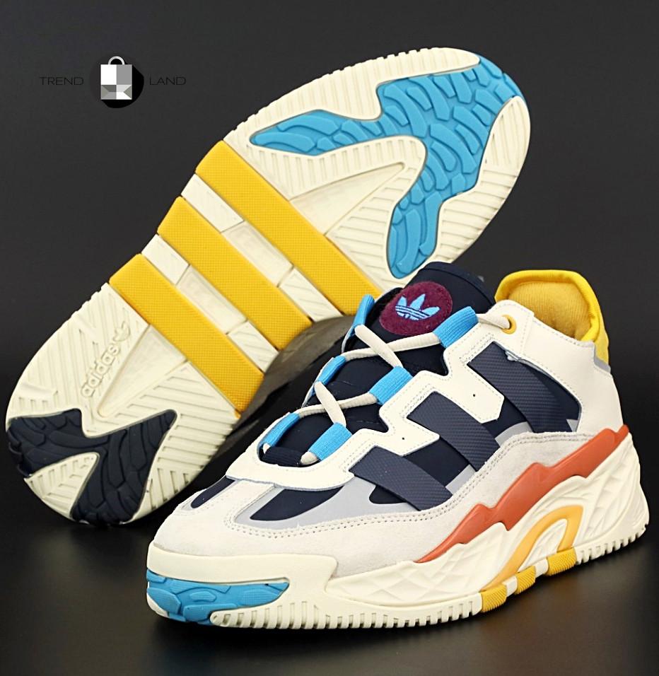 Чоловічі кросівки в стилі Adidas Niteball White\Blue\Yellow