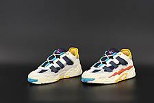 Чоловічі кросівки в стилі Adidas Niteball White\Blue\Yellow, фото 3