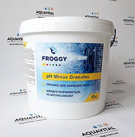 Froggy «рН - Minus Granules» препарат для зниження рівня рн у гранулах (10 кг)