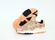 Рефлектив   Женские кроссовки в стиле Adidas Nite Jogger Rose Gold, фото 3