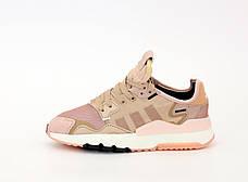 Рефлектив   Женские кроссовки в стиле Adidas Nite Jogger Rose Gold, фото 2