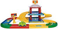 Детский гараж Wader Kid Cars 3D  2 этажа с дорогой 3,4 м (53020)