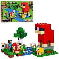 "Конструктор Lari Minecraft ""Шерстяная ферма"" (266 деталей) арт. 11361"