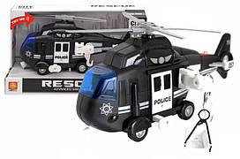 Інерційний пластиковий вертоліт поліції Wenyi CITY Servise WY750С , світло, звук, масштаб 1:16