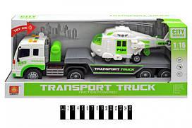 Інерційна пластикова машинка Wenyi Вантажівка Транспортер CITY Servise WY571D, світло, звук, масштаб 1:16