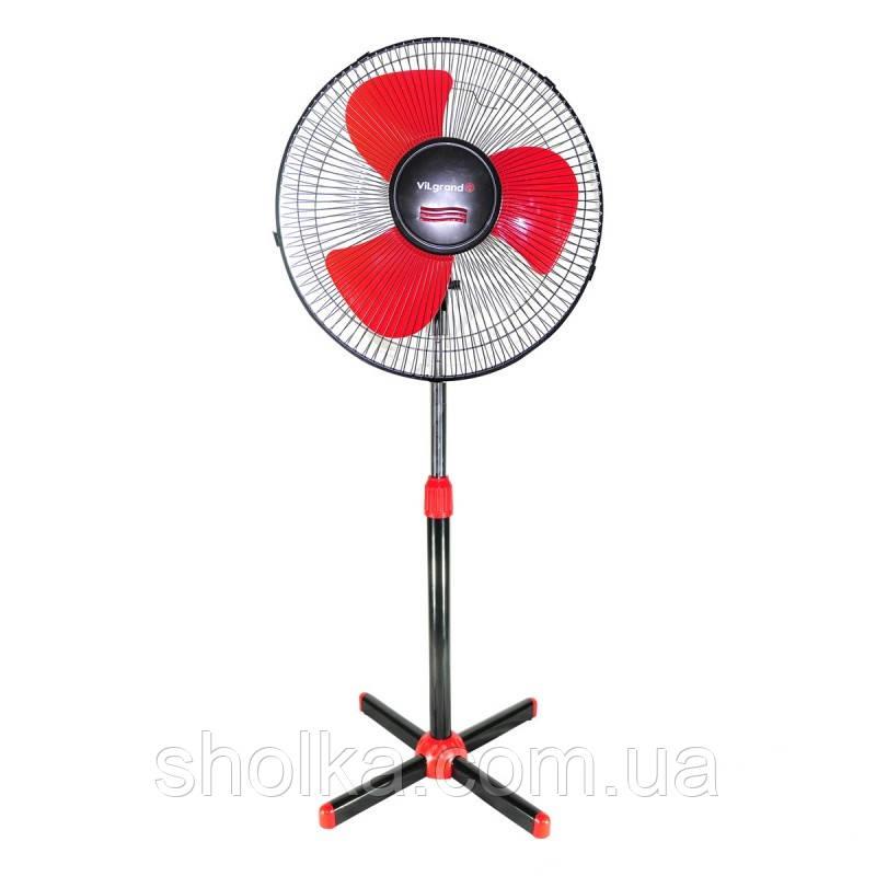 Напольный вентилятор VILGRAND VF400 Черный/Красный (45 Вт)
