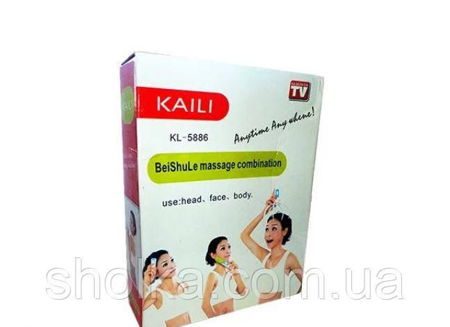 Ручний масажер для голови, обличчя, тіла з насадками KAILI KL- 5886