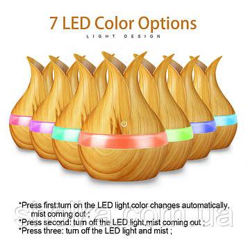 Аромадиффузор увлажнитель воздуха c подсветкой 7 LED