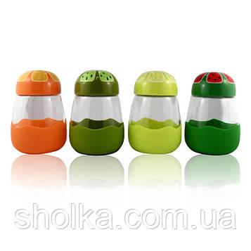 Термокружка в силиконовой защите с крышкой Fruits