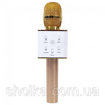 РАСПРОДАЖА!!! Караоке Микрофон Tuxun Q7 ЗОЛОТО в чехле