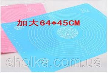 Коврик для раскатки теста силикон Benson 64*45см BN-022
