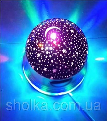 """Лампа на підставці зоряне небо """"Люкс"""" із вбудованим динаміком Bluetooth (RD-5008)"""