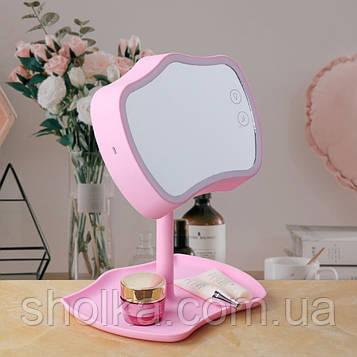 Зеркало с подсветкой, подставкой и сенсорным экраном Mirror Lamps 2 в 1 Настольная лампа