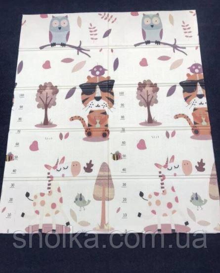 Дитячий килимок зростомір двосторонній, термо 150*180