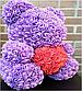 Мишка из искусственных роз в коробке 40 см (7 цветов), фото 5