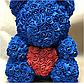 Мишка из искусственных роз в коробке 40 см (7 цветов), фото 6