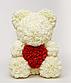 Мишка из искусственных роз в коробке 40 см (7 цветов), фото 9