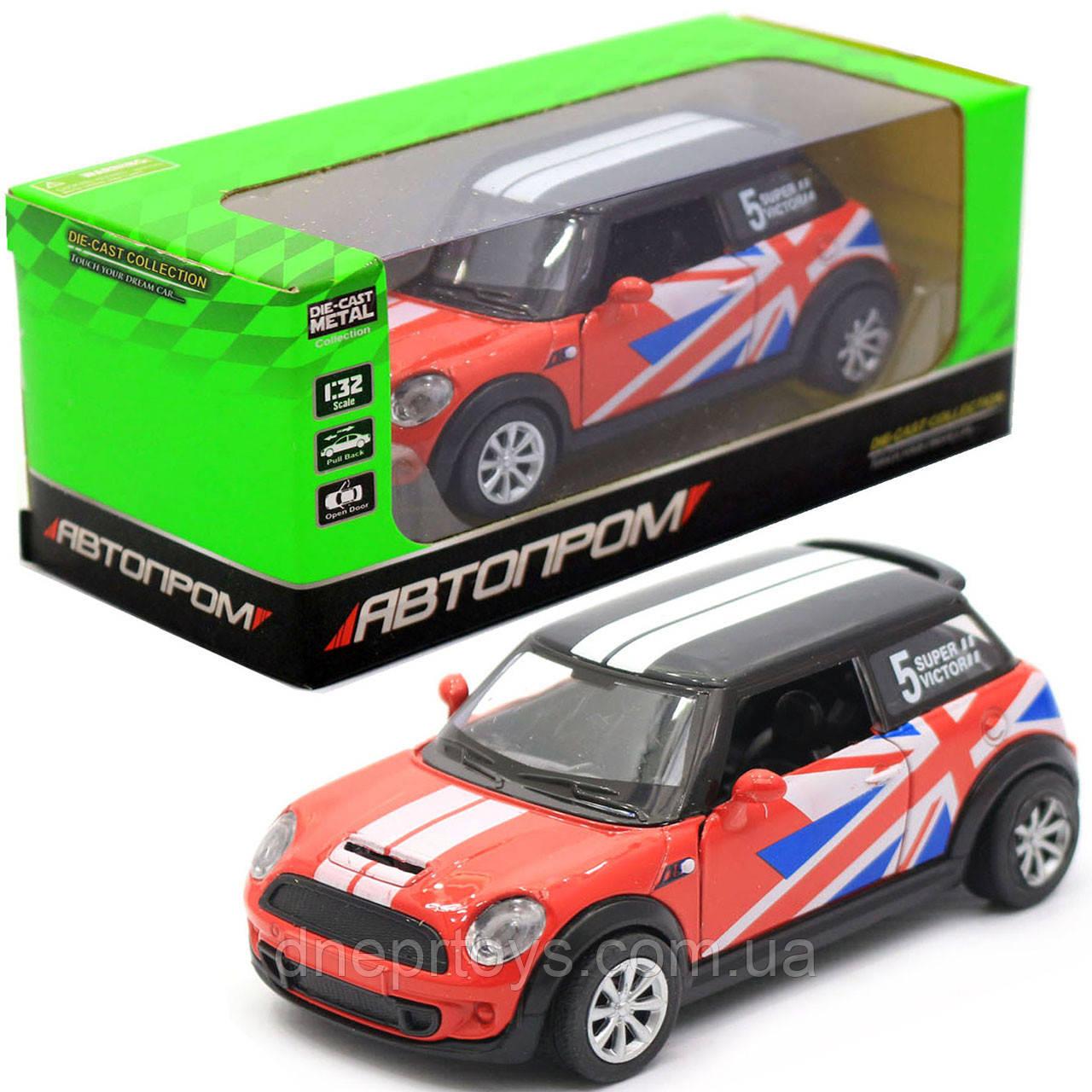 Детская машинка игровая автопром «Mini cooper» Красная, 12х5х5 см (7743)
