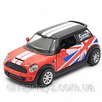 Детская машинка игровая автопром «Mini cooper» Красная, 12х5х5 см (7743), фото 4