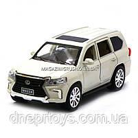 Машинка игровая автопром «Lexus LX570» Лексус джип, металл, 18 см, Белый (свет, звук, двери открываются) 7691, фото 2