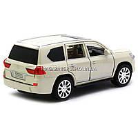 Машинка игровая автопром «Lexus LX570» Лексус джип, металл, 18 см, Белый (свет, звук, двери открываются) 7691, фото 5