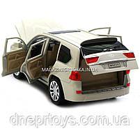 Машинка игровая автопром «Lexus LX570» Лексус джип, металл, 18 см, Белый (свет, звук, двери открываются) 7691, фото 8