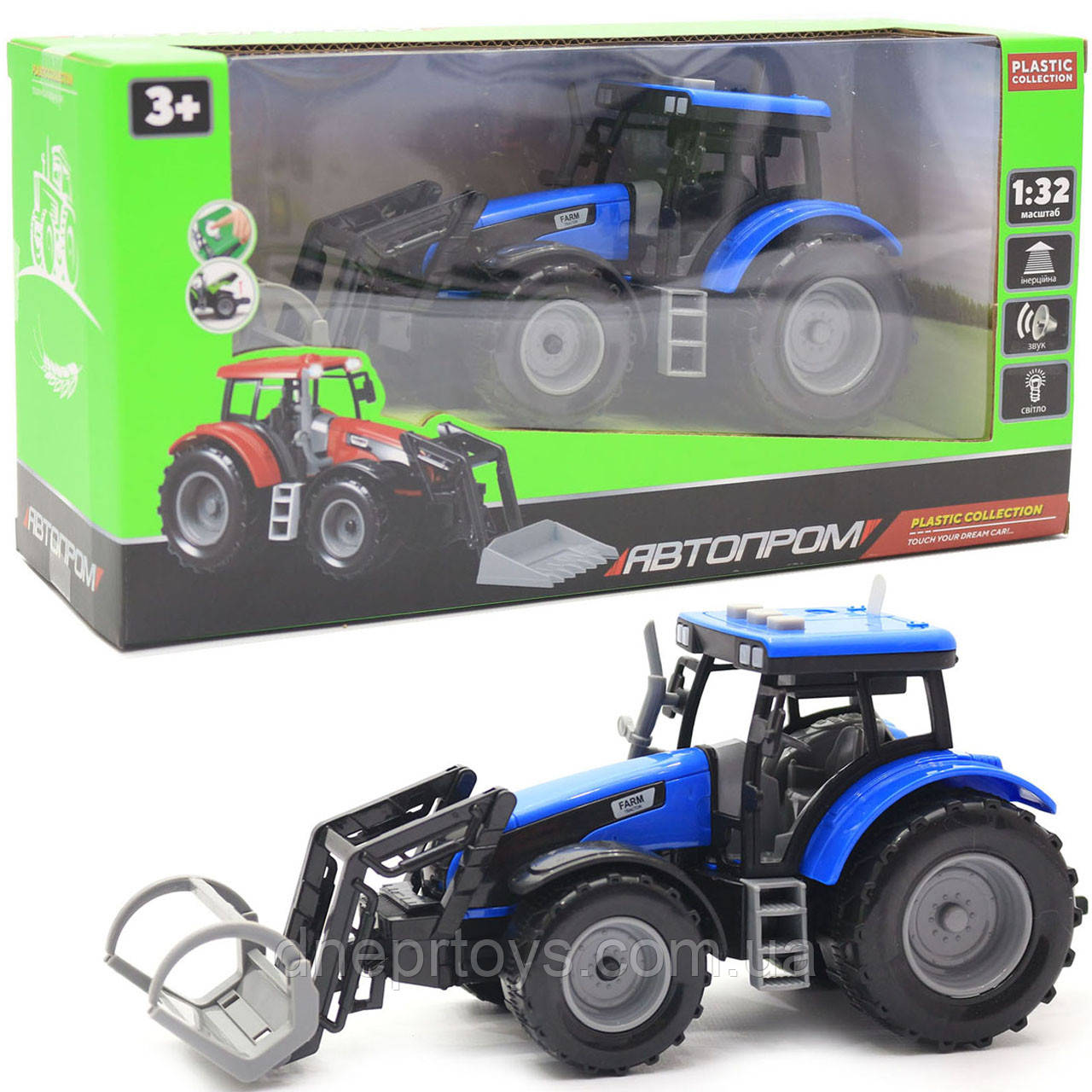 Машинка игровая автопром «Трактор» Синий-2, 20 см (7924AB)