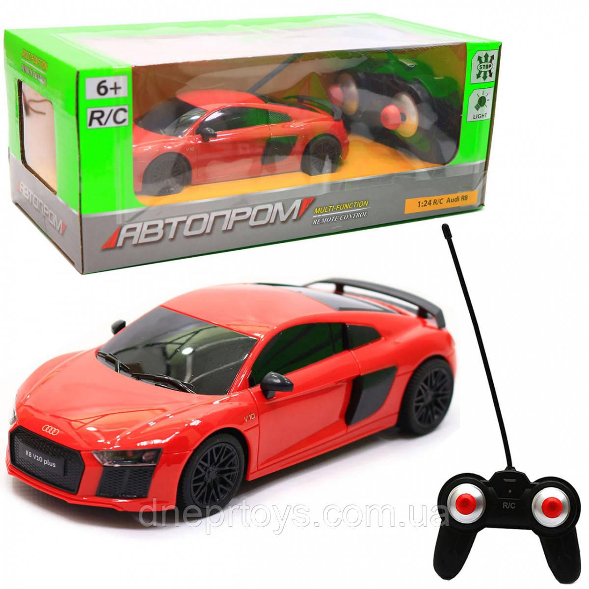 Машинка іграшкова Автопром на радіокеруванні Audi R8 червоний (8813)