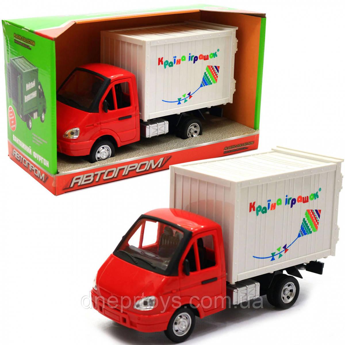Машинка іграшкова Автопром «Вантажівка. Країна іграшок» (світло, звук, пластик), 20х7х11 см (7660-6)