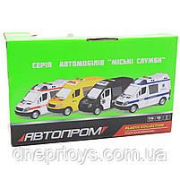 Машинка іграшкова Автопром Швидка допомога зі світловими і звуковими ефектами, 22х8х12 см (7669ABCD), фото 2