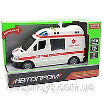 Машинка іграшкова Автопром Швидка допомога зі світловими і звуковими ефектами, 22х8х12 см (7669ABCD), фото 3