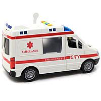 Машинка іграшкова Автопром Швидка допомога зі світловими і звуковими ефектами, 22х8х12 см (7669ABCD), фото 4